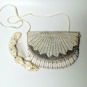 Vintage Magid Beaded Purse and Head Dress